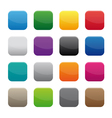blank square buttons vector image