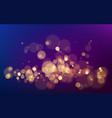 bokeh effect on dark background christmas glowing vector image