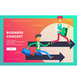 business concept the competition vector image vector image