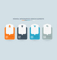 business info graphics time line with 4 steps vector image vector image