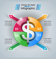 business infographics dollar money icon vector image vector image