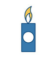 candle isolated symbol vector image