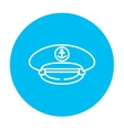 Captain peaked cap line icon vector image vector image