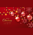 christmas background with shining snowflakes vector image vector image