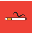 Cigarette On Red Background vector image vector image