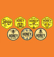 color set templates for honey packaging design vector image