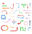 colored arrows set icons vector image