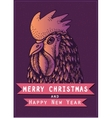colored cock for new year 2017 on dark vector image