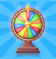 colorful wheel of fortune with money prizes slots vector image vector image