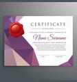 creative certificate design template vector image vector image