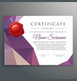 creative certificate design template with vector image vector image
