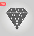 diamond icon flat design best icon vector image vector image