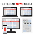 different news media set vector image