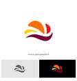 fast cloud logo design concept tech cloud logo vector image