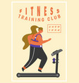 Fitness woman poster health sport in club cute
