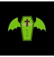 flat icon on stylish background wings coffin vector image vector image