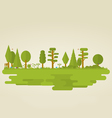 Flat nature vector image vector image