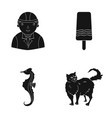 fur care building and other web icon in black vector image vector image