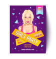 girls party in nightclub vector image vector image