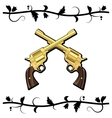 Gold Crossed Guns vector image vector image