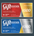 Golden and Silver Gift Voucher Design Print vector image vector image