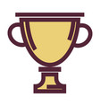 golden cup award or trophy isolated icon vector image vector image