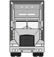 gray isolated modern truck vector image vector image