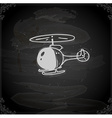Hand Drawn Helicopter vector image