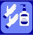 hand sanitizer bottle symbol alcohol bottle vector image vector image