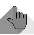 hand sign black icon with vector image vector image