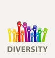 hands diversity color vector image