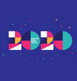 happy new year 2020 logo text design memphis vector image