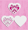 heart card for invitation or greeting vector image vector image