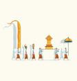 hindu bali purification parade vector image vector image