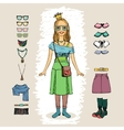 hipster woman vector image