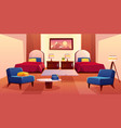hotel bedroom empty apartment interior design vector image vector image