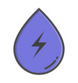 hydropower color concept hydropower icon vector image