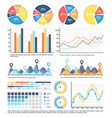 infographics report on data received in research vector image vector image
