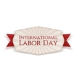 International Labor Day white striped Banner vector image vector image