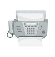 isolated fax vector image vector image