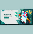 landing page modern banner template with tiny vector image vector image