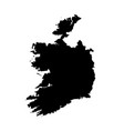 map ireland isolated black vector image