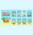merry christmas santa claus resting on islands vector image vector image