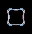 metal frame avatar iron square template for ui vector image