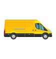 minibus taxi passenger public yellow minivan vector image