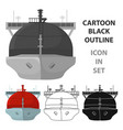 oil tanker icon in cartoon style isolated on white vector image vector image