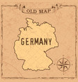 old style germany map vector image