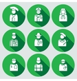 People icon set Judge artist referee doctor vector image vector image