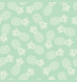 pineapple seamless pattern on mint background vector image vector image