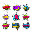 pop art phrase comic text set vector image vector image